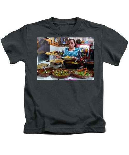 Food Court In Paracho Kids T-Shirt
