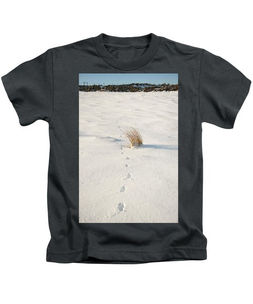 Footprints In The Snow II Kids T-Shirt