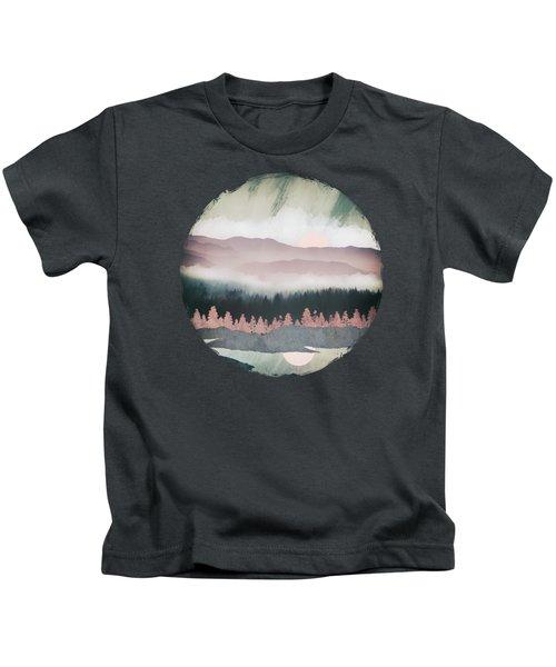 Forest Lake Evening Kids T-Shirt