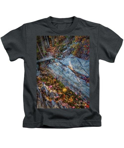 Forest Tidal Pool In Granite, Harpswell, Maine  -100436-100438 Kids T-Shirt