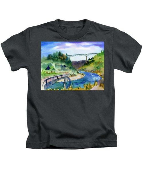 Foresthill Bridge #2 Kids T-Shirt
