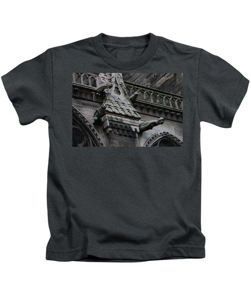 Four Gargoyles On Notre Dame North Kids T-Shirt