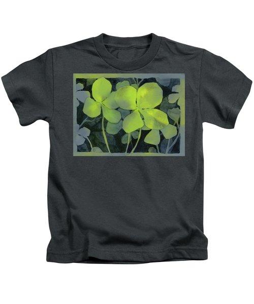 Four Leaf Clover Watercolor Kids T-Shirt