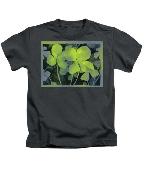 Four Leaf Clover Watercolor Kids T-Shirt