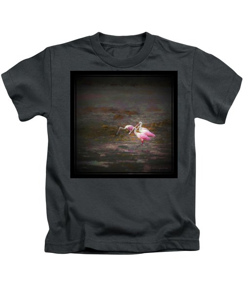 Four Spoons On The Marsh Kids T-Shirt by Marvin Spates