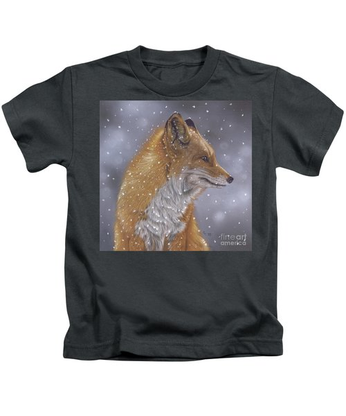 Fox In A Flurry Kids T-Shirt