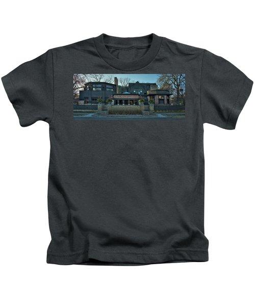 Frank Lloyd Wright Home And Studio Oak Park Illinois Kids T-Shirt