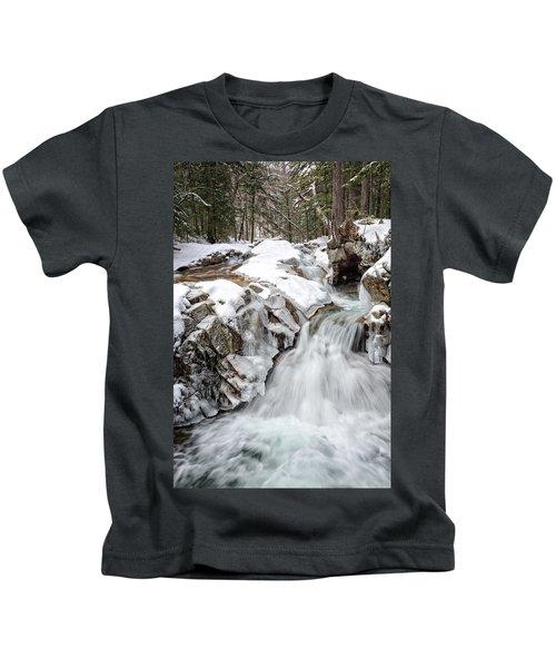 Freeze On The Basin Trail Nh Kids T-Shirt