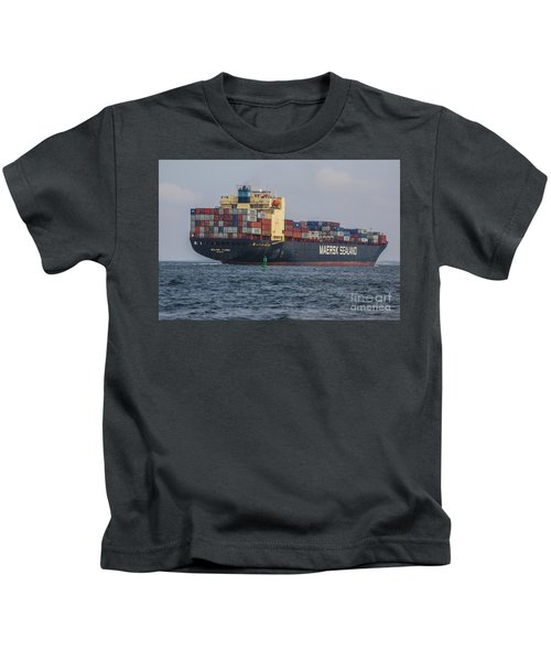 Freighter Headed Out To Sea Kids T-Shirt
