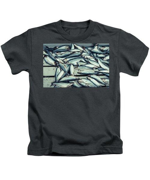 Fresh Caught Herring Fish Kids T-Shirt