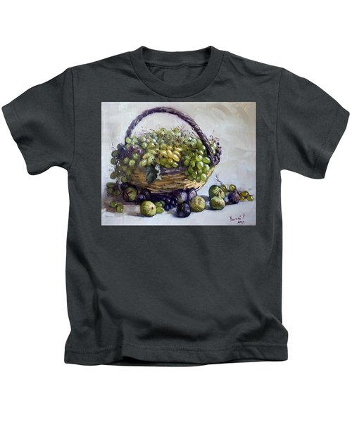 Fresh Grapes And Figs From Lida's Garden Kids T-Shirt