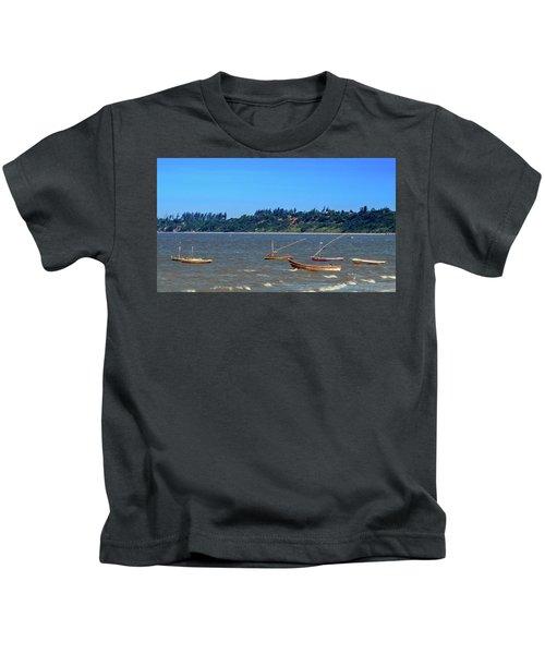 Frolicking Fishing Boats At Ketembe Kids T-Shirt