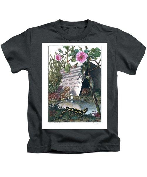 Frontis Of Historia Naturalis Ranarum Nostratium Kids T-Shirt