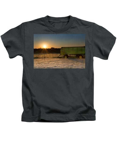 Frosty John Deere Sunrise Kids T-Shirt