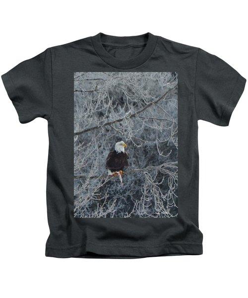 Frosty Morning Eagle Kids T-Shirt