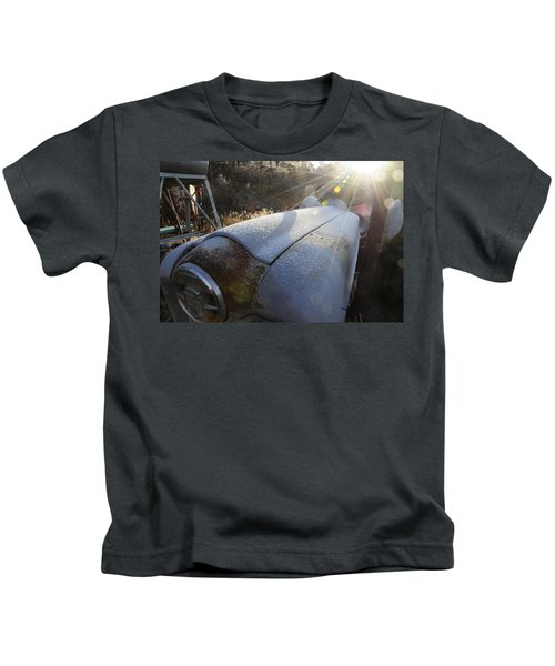 Frosty Tractor Kids T-Shirt