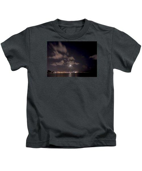 Full Moon In Miami Kids T-Shirt