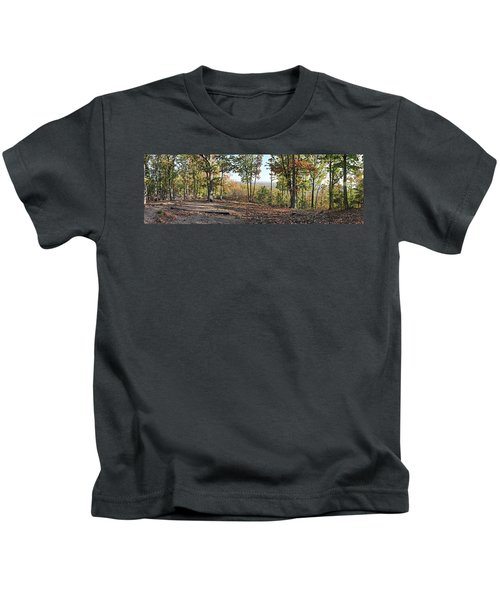 Full Panoramic View From The Summit Of Brown's Mountain Trail Kids T-Shirt
