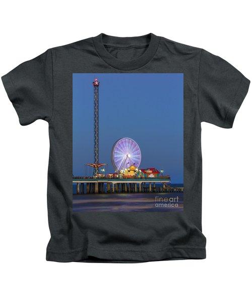 Galveston Pier  Kids T-Shirt