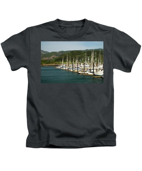 Garibaldi Oregon Marina Kids T-Shirt