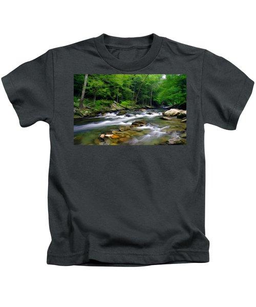 Gatlinburg Stream Kids T-Shirt