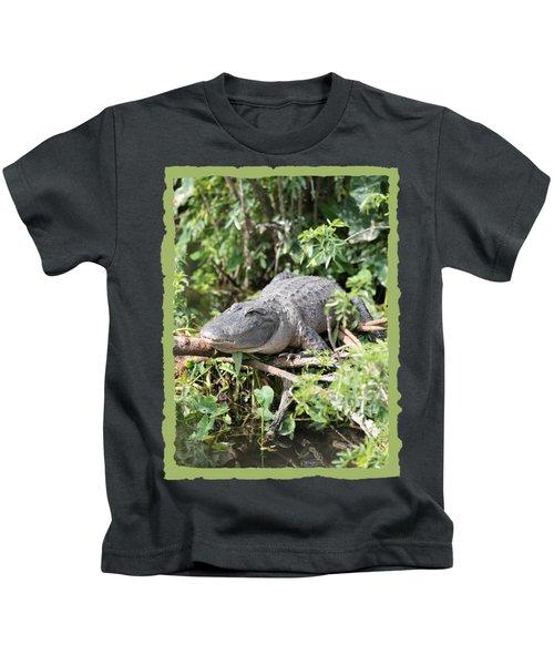 Gator In Green Kids T-Shirt