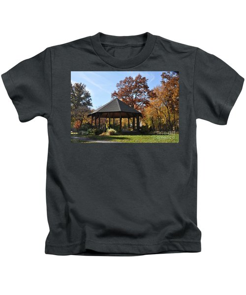 Gazebo At North Ridgeville - Autumn Kids T-Shirt