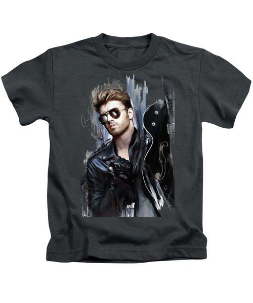 George Michael Singer Kids T-Shirt