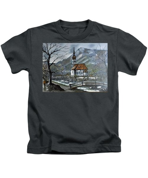 German Church At Ramsau  Kids T-Shirt