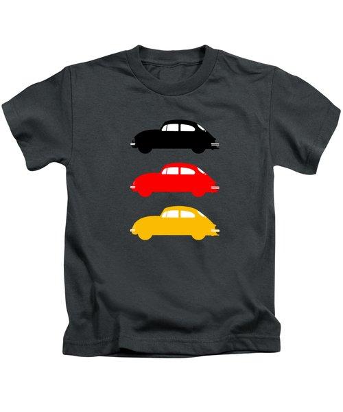 German Icon - Vw Beetle Kids T-Shirt by Mark Rogan