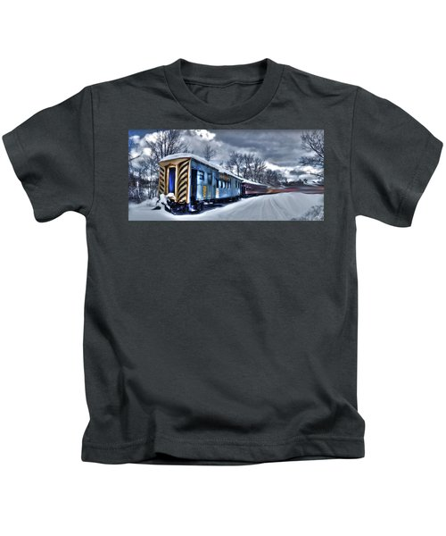 Ghost Train In An Existential Storm Kids T-Shirt