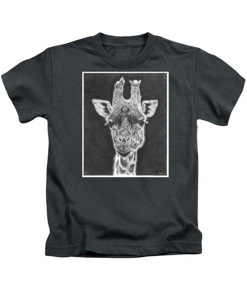 Giraffe Pencil Drawing Kids T-Shirt
