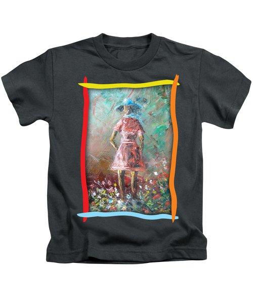 Girl In The Garden Kids T-Shirt