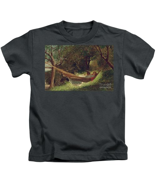 Girl In The Hammock Kids T-Shirt