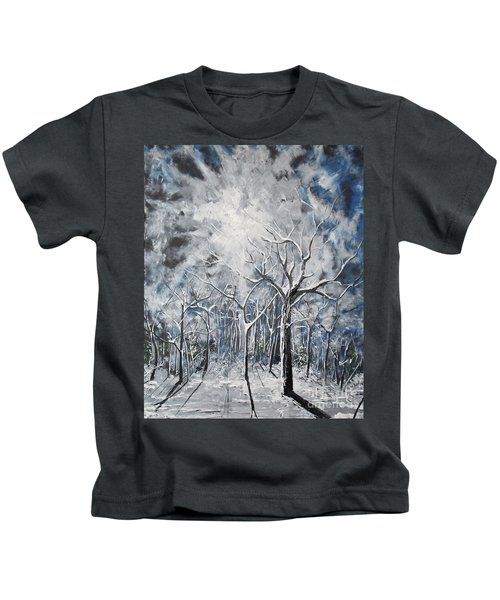 Girl In The Woods Kids T-Shirt