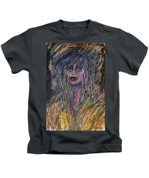 Girl With Hat Kids T-Shirt