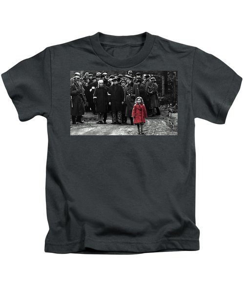 Girl With Red Coat Publicity Photo Schindlers List 1993 Kids T-Shirt