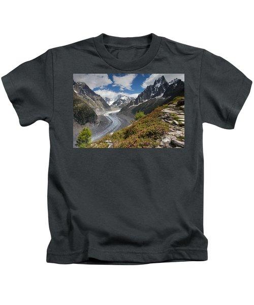 Glacier De La Mer De Glace Kids T-Shirt