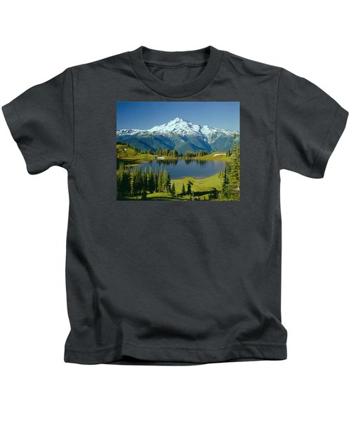 1m4422-glacier Peak, Wa  Kids T-Shirt