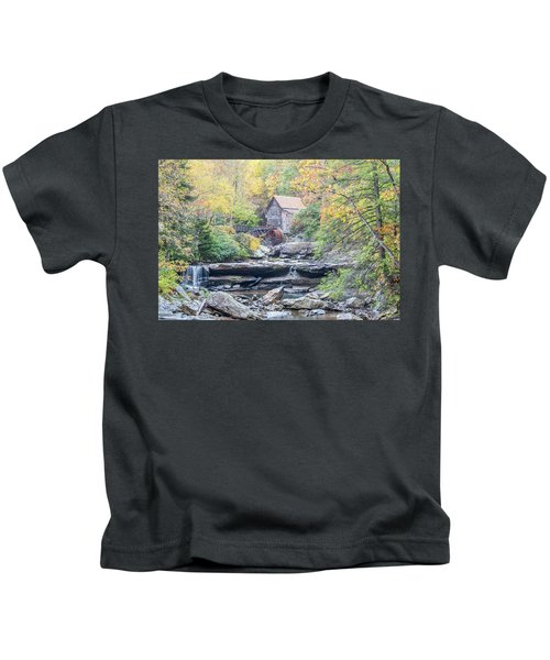 Glade Creek Grist Mill In Autumn Kids T-Shirt