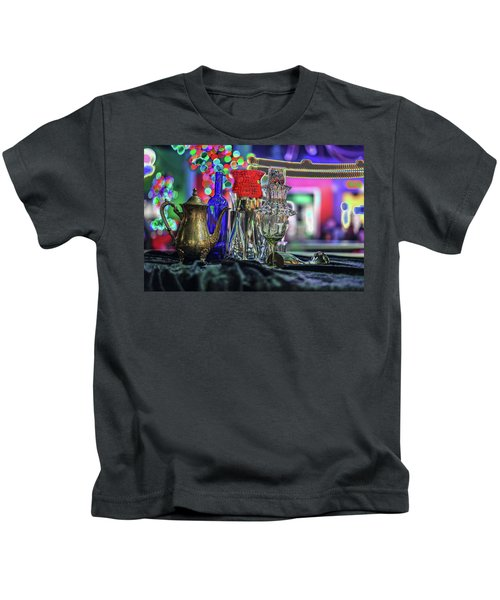Glass In The Frame Of Colorful Hearts Kids T-Shirt
