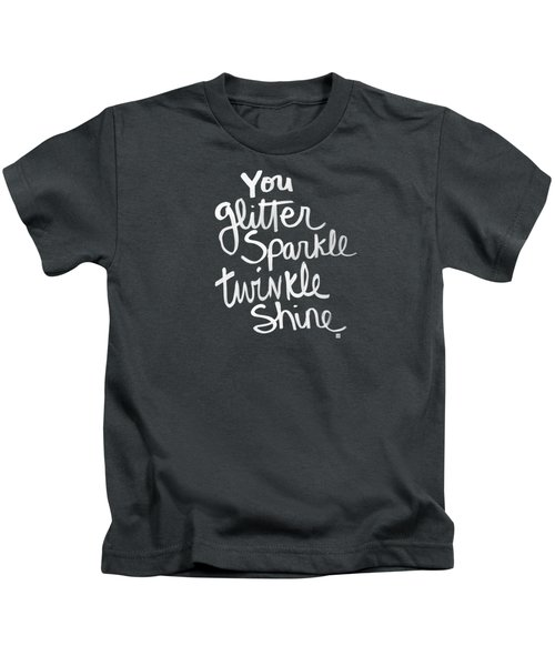 Glitter Sparkle Twinkle Kids T-Shirt