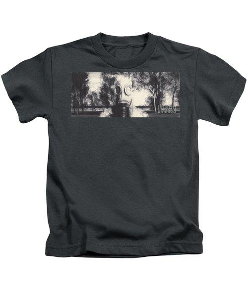 Vintage Gas Mask Terror Kids T-Shirt