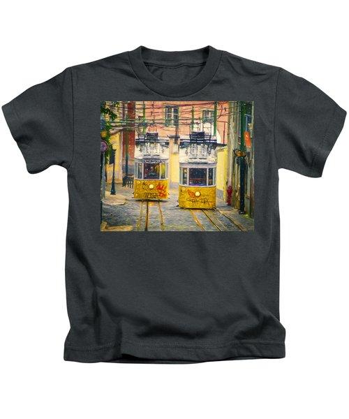 Gloria Funicular Lisbon II Kids T-Shirt