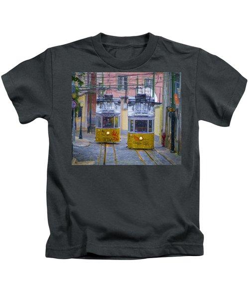 Gloria Funicular Lisbon Kids T-Shirt