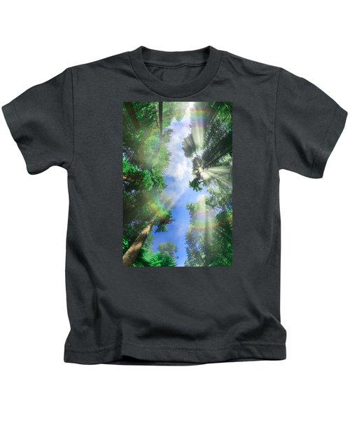 Glory Amongst Redwoods Kids T-Shirt