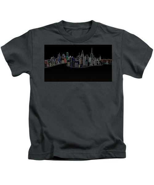 Glowing City Kids T-Shirt
