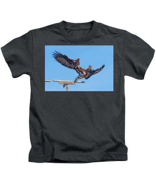 Golden Eagle Courtship Kids T-Shirt