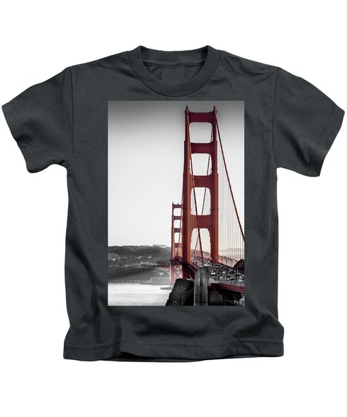 Golden Gate Black And Red Kids T-Shirt