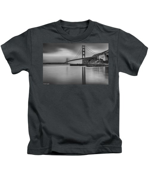 Golden Gate Black And White Kids T-Shirt